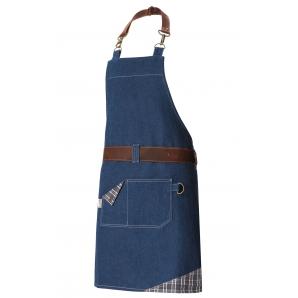 Фартук RAGNAR (Рагнар) с нагрудником dark blue denim (темно-синий джинсовый)