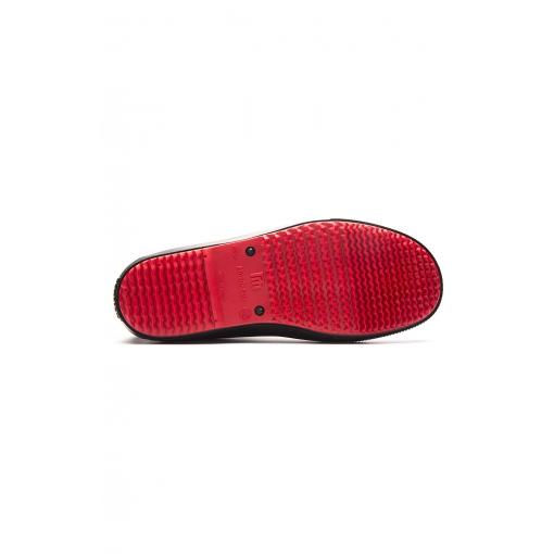Сапоги ПВХ укороченные с эластичными вставками 5-153-D04 черно-красные