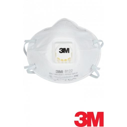 Полумаска фильтрующая (респиратор) противоаэрозольная с клапаном выдоха 3M 8122 FFP2 NR D