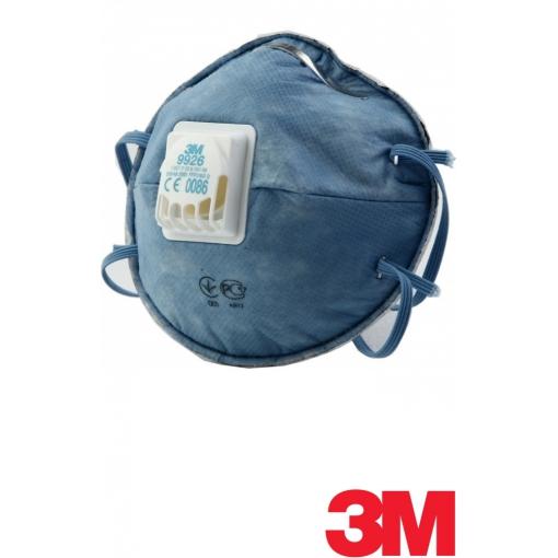 Полумаска фильтрующая (респиратор) противоаэрозольная с клапаном выдоха 3М™ 9926Р для защиты от кислых газов FFP2 NR D