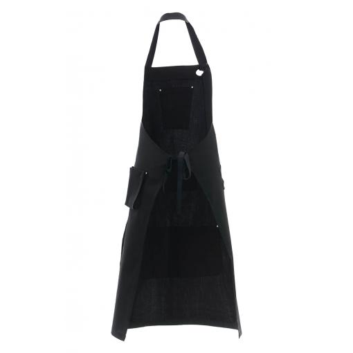 Фартук «RICON» с нагрудником, цвет black (черный)