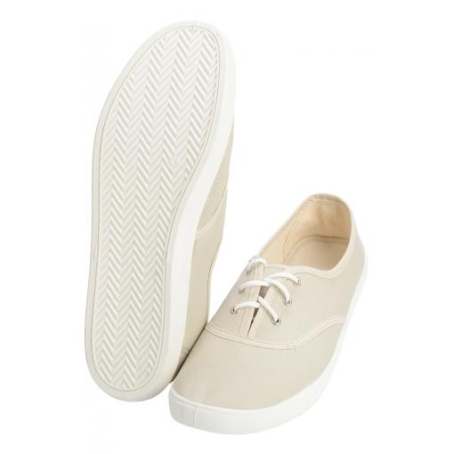 Слипоны на шнурках цвет beige (бежевый)